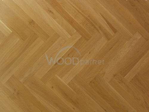 Dub Natur 16x70x500 mm Masivní dubové parketové vlysy, vhodné pro sestavení různých vzorů.
