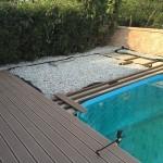 Nová WPC terasa u bazénu