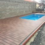 bazén mountfield s wpc terasou, woodparket