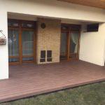 Pohled na hotovou montáž terasy