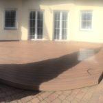 Pokládka terasy z dřevoplastu, woodplastic
