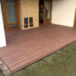 WPC dřevoplastová terasa po rekonstrukci terasy