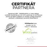 Certifikát montážníka 2018 WPC Woodplastic pro Woodparket