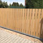 dřevoplast na plotě, woodplastic