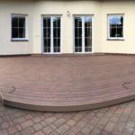 hotová realizace terasy z dřevoplastu