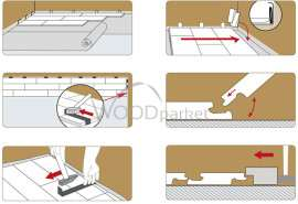 postup pokládky plovoucí vinylové podlahy rs click