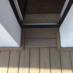 terasa z dřevoplastu na střeše domu, woodparket