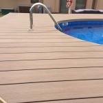 woodparket, obklad bazénu