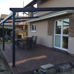 zastřešení terasy hliníkové pergoly, woodparket