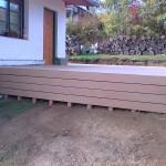 Podklad terasy - WPC terasa u rodinného domu EMO Teak - fotogalerie