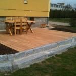 Dřevo plastové desky na terasu