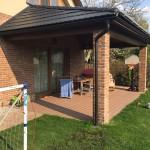 WPC terasa na zahradě rodinného domu