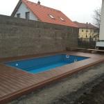 rodinný bazén mountfield s dřevo plastovou terasou woodparket
