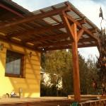 Dřevo plastová terasa