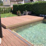 Obložení bazénu, palisander, woodparket