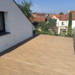 Realizace terasy z dřevoplastu, woodparket