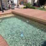 bazén s obkladem od woodparket