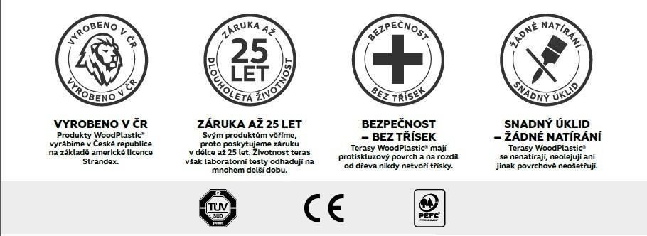 Výhody terasových prken Terafest Woodplastic