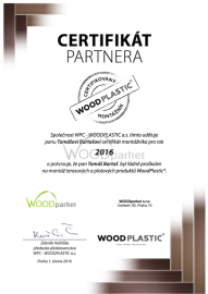 certifikát 2016 woodplastic