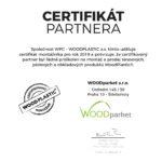 CERTIFIKÁT PARTNERA Woodplastic WPC 2019 pro Woodparket