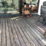 dřevěná terasa, rekonstrukce