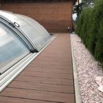 dřevoplastová terasa, bazén