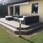 hotová dřevoplastová terasy se sezením