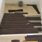 lepení vinylové podlahy Thermofix na schodiště