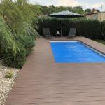 montáž WPC terasy u bazénu, @woodparket