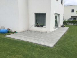 montáž plastové terasy z dřevoplastu