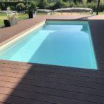 obložení bazénu, woodplastic