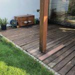 původní dřevěná terasa