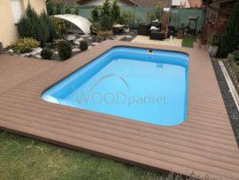 rekonstrukce kamínkového koberce u bazénu