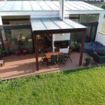 terasa u domu z dřevoplastu, woodplastic