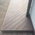 ukončení pokládky terasy z materiálu WPC dřevo