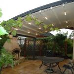 zahradní pergola, zastřešená