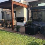 zakončení nové terasy u domu